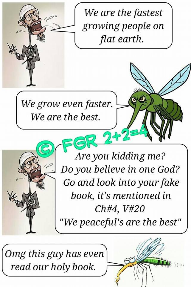 Fastest Growing Religion Zakir Naik Mosquito FGR The FGR - The fastest growing religion